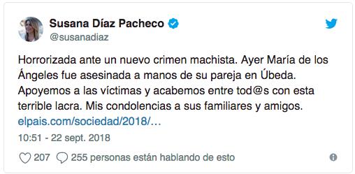 Tweet - Susana Díaz, presidenta de la Junta de Andalucía