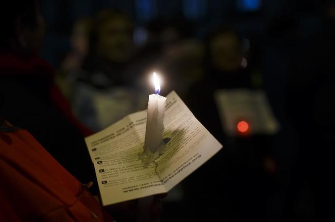 Manifestación celebrada en 2016 en contra de la pobreza energética. ÁNGEL NAVARRETE