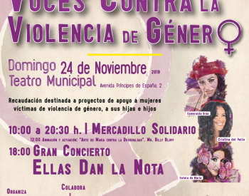 Concierto contra la violencia de género en Coslada